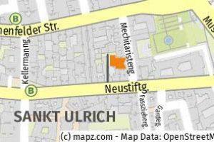 Kartenausschnitt BCN Durcklösungen | Copyhsop-Wien, 1070 Wien, Neustiftgasse 12 |(c) www.mapz.com · Download site for road maps und city maps · Downloadportal für Stadtpläne und Landkarten